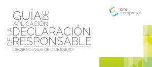 Guía de aplicación de la Declaración Responsable