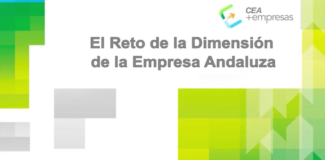 Vídeo: el reto del dimensionamiento empresarial en Andalucía | CEA+Empresas
